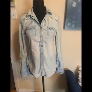 🌟2/$25🌟AMERICAN EAGLE jean shirt